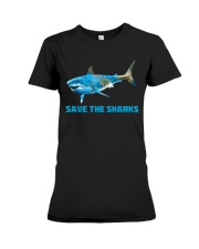 SAVE THE SHARKS Premium Fit Ladies Tee thumbnail
