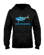 SAVE THE SHARKS Hooded Sweatshirt thumbnail