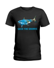 SAVE THE SHARKS Ladies T-Shirt tile