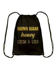 BROWN SUGER - HONEY - COCOA n GOLD Drawstring Bag thumbnail