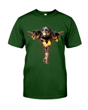 ROTTIES ON ZIPPER Classic T-Shirt front