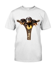 ROTTIES ON ZIPPER Premium Fit Mens Tee front