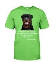 ROTTIE TALKING Classic T-Shirt front