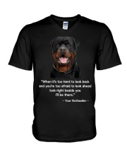 ROTTIE TALKING V-Neck T-Shirt tile