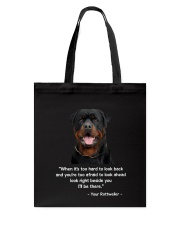 ROTTIE TALKING Tote Bag tile