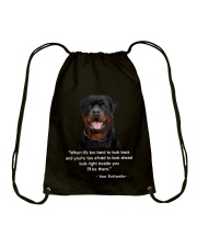 ROTTIE TALKING Drawstring Bag tile