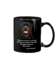 ROTTIE TALKING Mug tile