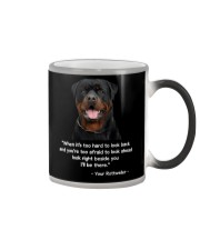 ROTTIE TALKING Color Changing Mug tile