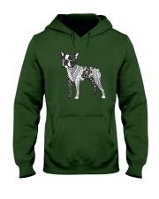 BOSTON TERRIER Coloring Hooded Sweatshirt front