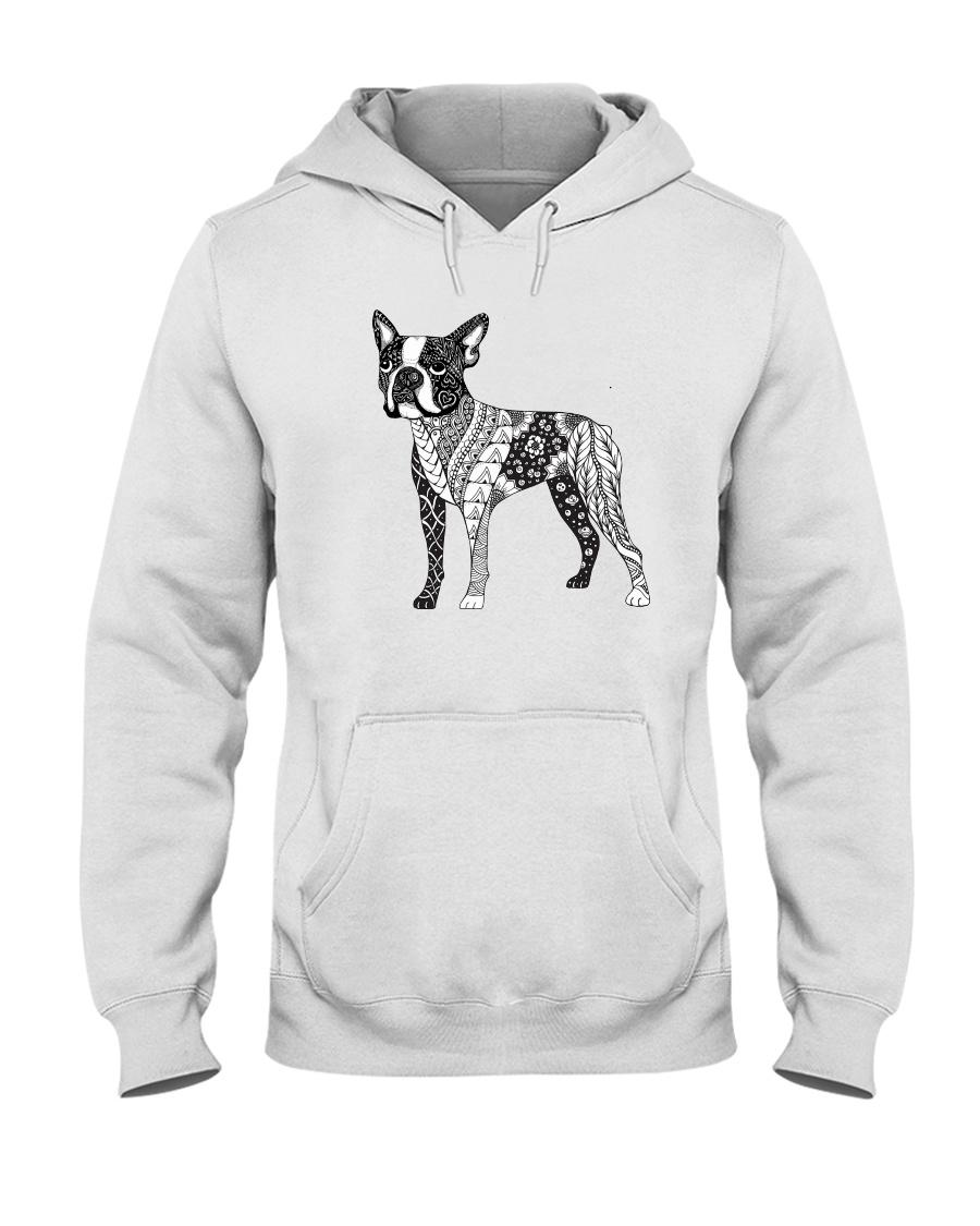 BOSTON TERRIER Coloring Hooded Sweatshirt
