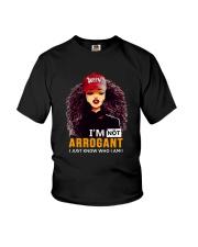 I AM NOT ARROGANT Youth T-Shirt thumbnail