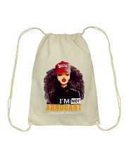 I AM NOT ARROGANT Drawstring Bag thumbnail