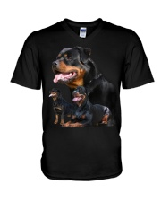 ROTTIES ON SHIRT V-Neck T-Shirt thumbnail