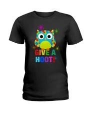 GIVE A HOOT Ladies T-Shirt thumbnail