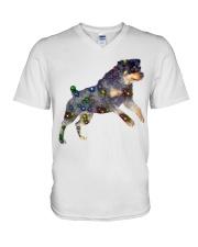 ROTTWEILER GLITTER V-Neck T-Shirt thumbnail