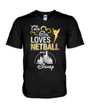 THIS GIRL LOVE NETBALL V-Neck T-Shirt thumbnail