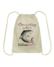EVERYTHING HAS BEAUTY Drawstring Bag thumbnail
