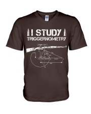 I STUDY TRIGGERNOMETRY V-Neck T-Shirt front