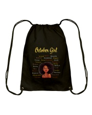 OCTOBER GIRL Drawstring Bag thumbnail