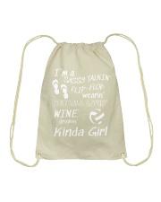 I'M A NETBALL LOVING KINDA GIRL Drawstring Bag thumbnail