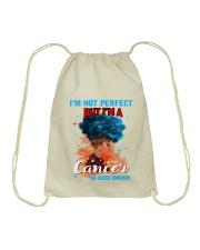 CANCER CLOSE ENOUGH TO PERFECT Drawstring Bag thumbnail