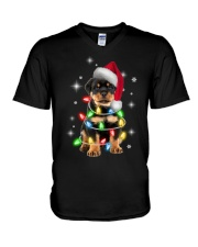 ROTTIE CHRISTMAS V-Neck T-Shirt thumbnail