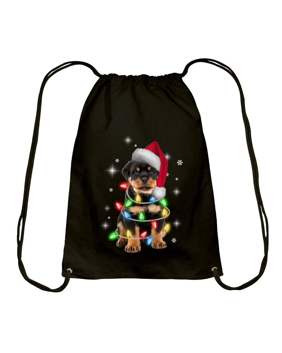 ROTTIE CHRISTMAS Drawstring Bag