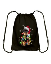 ROTTIE CHRISTMAS Drawstring Bag front