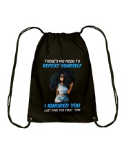 I IGNORED YOU Drawstring Bag tile
