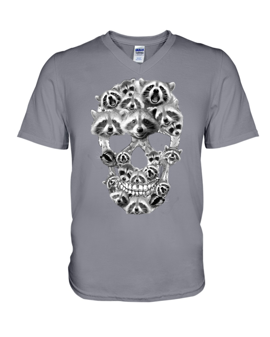 RACCOON SKLL V-Neck T-Shirt showcase