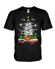 SHARK XMAS PINE V-Neck T-Shirt thumbnail