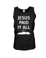 JESUS PAID IT ALL Unisex Tank thumbnail