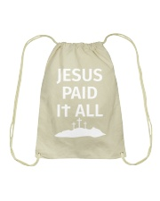 JESUS PAID IT ALL Drawstring Bag thumbnail