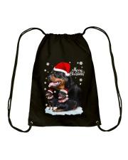 ROTTIE CHRISTMAS Drawstring Bag thumbnail