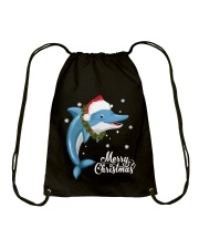 DOLPHIN CHRISTMAS Drawstring Bag thumbnail