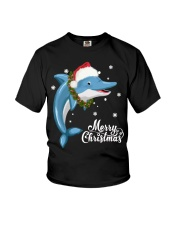 DOLPHIN CHRISTMAS Youth T-Shirt thumbnail