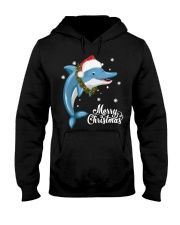 DOLPHIN CHRISTMAS Hooded Sweatshirt thumbnail