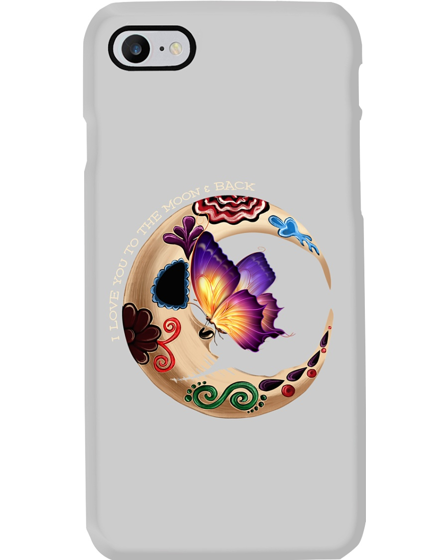 I LOVE BUTTERFLY TO THE MOON AND BACK Phone Case