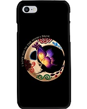 I LOVE BUTTERFLY TO THE MOON AND BACK Phone Case thumbnail