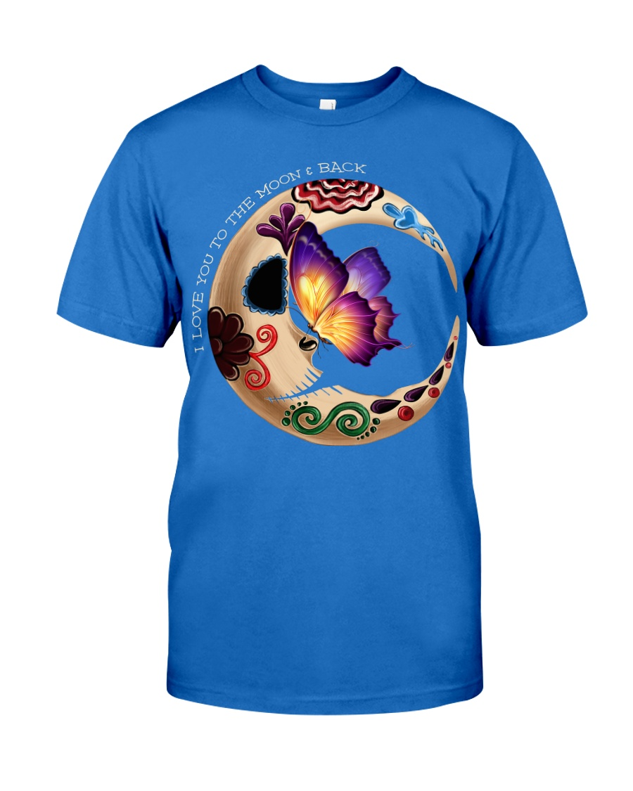 I LOVE BUTTERFLY TO THE MOON AND BACK Premium Fit Mens Tee