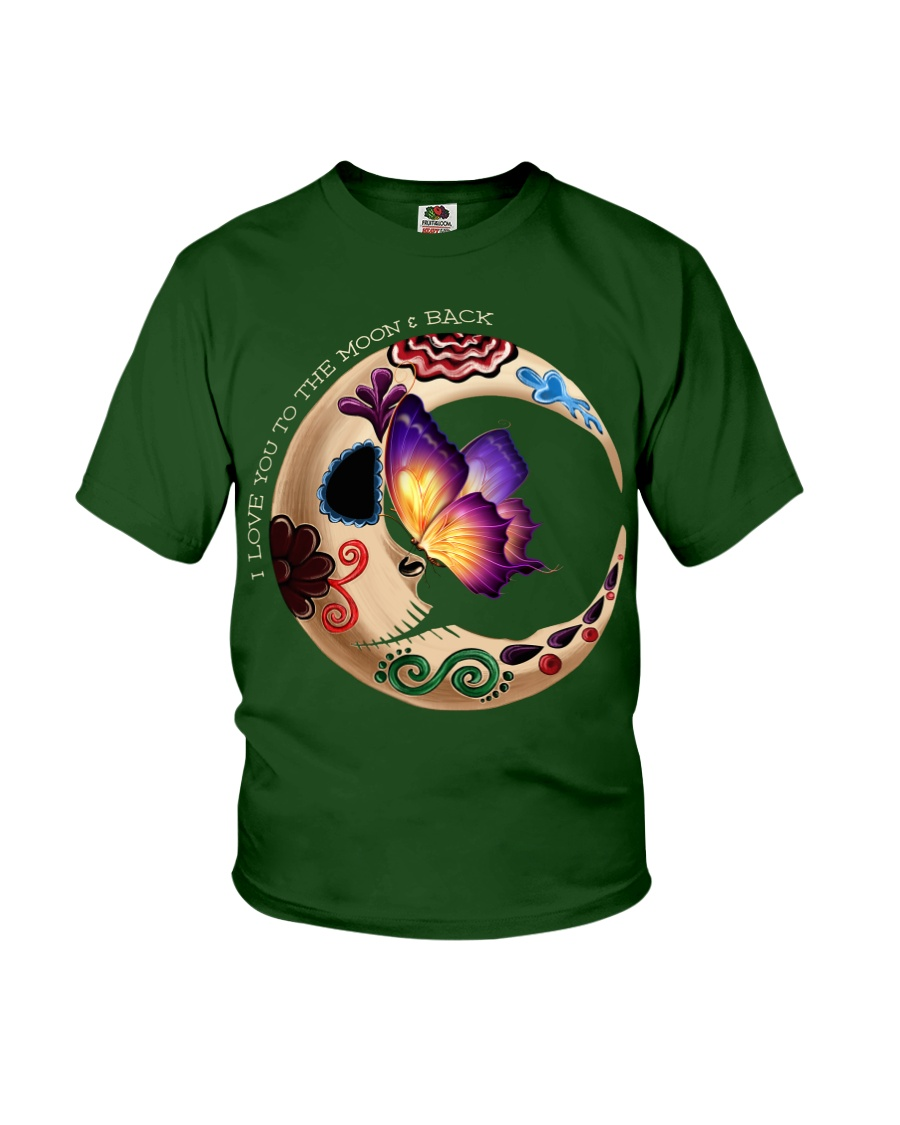 I LOVE BUTTERFLY TO THE MOON AND BACK Youth T-Shirt
