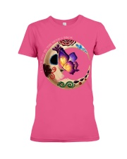 I LOVE BUTTERFLY TO THE MOON AND BACK Premium Fit Ladies Tee front