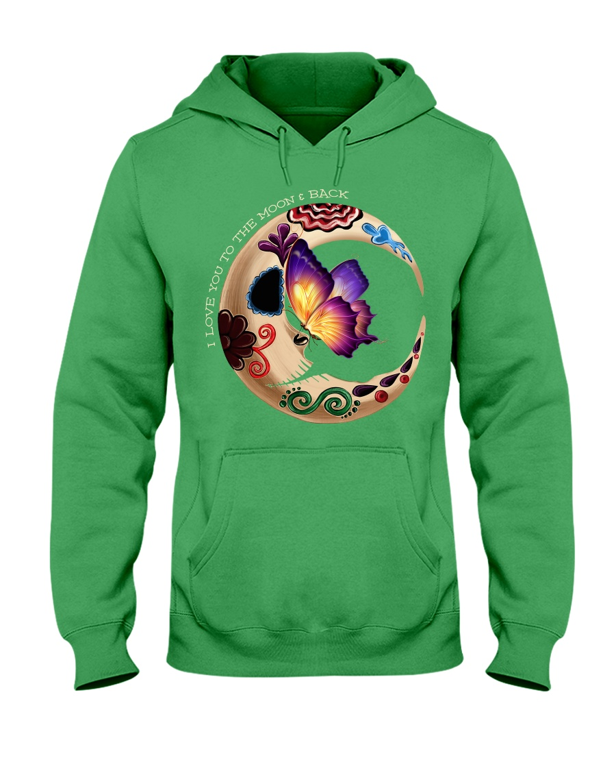 I LOVE BUTTERFLY TO THE MOON AND BACK Hooded Sweatshirt