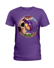 I LOVE BUTTERFLY TO THE MOON AND BACK Ladies T-Shirt front