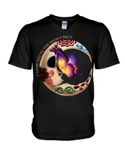 I LOVE BUTTERFLY TO THE MOON AND BACK V-Neck T-Shirt thumbnail