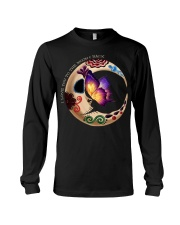 I LOVE BUTTERFLY TO THE MOON AND BACK Long Sleeve Tee thumbnail