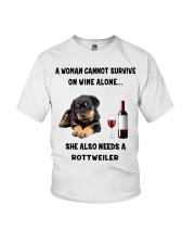 SHE ALSO NEEDS A ROTTWEILER Youth T-Shirt thumbnail