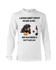 SHE ALSO NEEDS A ROTTWEILER Long Sleeve Tee thumbnail