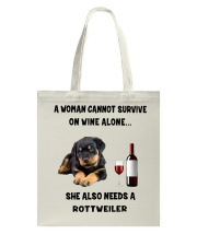 SHE ALSO NEEDS A ROTTWEILER Tote Bag thumbnail