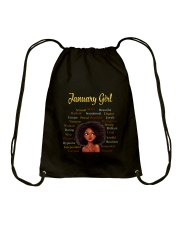 JANUARY GIRL Drawstring Bag thumbnail